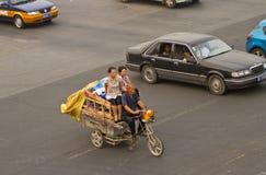 Em uma estrada transversaa de Beijing Imagem de Stock