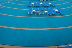 Em uma plataforma de um navio de cruzeiros Fotografia de Stock