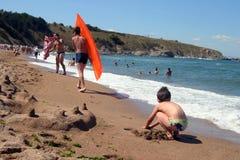 Em uma praia Fotografia de Stock