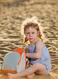Em uma praia Fotografia de Stock Royalty Free
