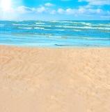 Em uma praia Fotos de Stock