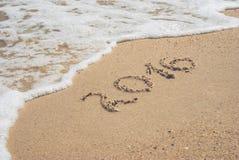 2016 em uma praia 2 Fotografia de Stock