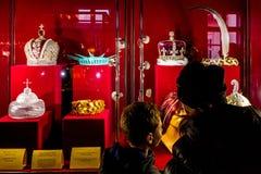 Em Uzhgorodhospeda coroas de uma exposição do mundo Imagens de Stock