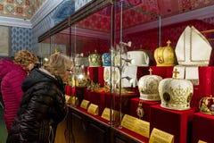 Em Uzhgorodhospeda coroas de uma exposição do mundo Foto de Stock