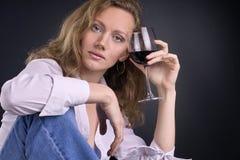 Em veritas do vino Imagens de Stock