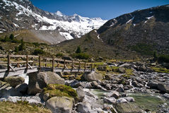 Em Zemmground, alpes de Zillertaler, Áustria Foto de Stock