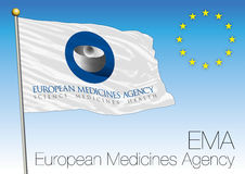 EMA, European Medicines Agency flag Royalty Free Stock Images