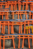 Ema prayer tables with unique Torii gates boards at Fushimi Inari Taisha Temple Stock Images