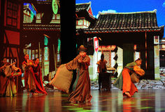 "Emaciated Porter-Large scale scenarios show"" The road legend"". The drama about a Han Princess and king of Tibet Song Xan Gan Bbu and the story stock photo"