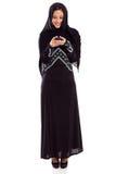 Email árabe da mulher fotografia de stock