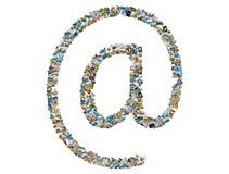 At, email Royalty Free Stock Photography