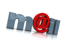 Email. 3d illustration of email sign over white background Stock Image