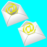 Email. Illustration of email.Got an email Royalty Free Stock Image