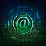 Email. Symbol on modern technology theme background. Eps10 layered  file Royalty Free Stock Images