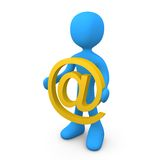 Email. Computer generated image of a person holding a @ symbol Stock Images