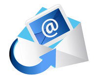 Email Photographie stock