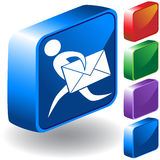 Email 3D Icon Royalty Free Stock Images