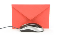 Email. Envelope and computer mouse, concept of email Stock Photography
