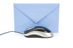 Email. Envelope and computer mouse, concept of email Stock Images