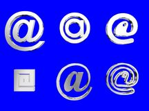 Email. Silver royalty free illustration