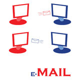 Email illustration stock