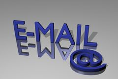 Email. The word email as 3d graphic model Royalty Free Stock Image