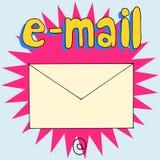 Email @ ilustración del vector