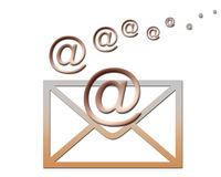 By email... Contact someone by email, quick and easy Stock Image