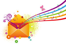 Email. Envelope in the white background Royalty Free Stock Photography
