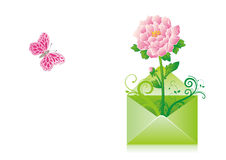 Email. Envelope in the white background Stock Photography