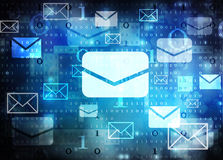 Email abstract background Stock Photo