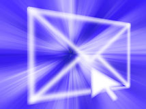 EMail-abstrakte Grafik Stockbild