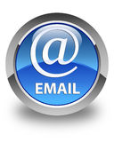 Email (address icon) glossy blue round button Royalty Free Stock Photography