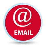 Email (address icon) flat prime red round button. Email (address icon) isolated on flat prime red round button abstract illustration stock illustration