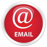 Email (address icon) premium red round button Stock Photo