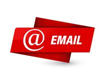 Email (address icon) premium red tag sign. Email (address icon) isolated on premium red tag sign abstract illustration royalty free illustration