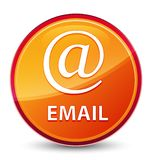 Email (address icon) special glassy orange round button royalty free illustration