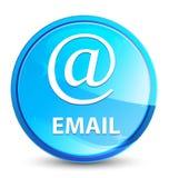 Email (address icon) splash natural blue round button vector illustration
