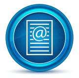 Email address page icon eyeball blue round button. Email address page icon isolated on eyeball blue round button stock illustration