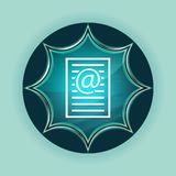 Email address page icon magical glassy sunburst blue button sky blue background. Email address page icon isolated on magical glassy sunburst blue button sky blue royalty free illustration