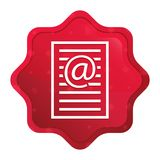 Email address page icon misty rose red starburst sticker button. Email address page icon isolated on misty rose red starburst sticker button royalty free illustration