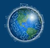 Email al mundo Fotografía de archivo libre de regalías
