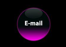 Email al neon dentellare del buttom Fotografia Stock