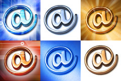 Email Alias At @ Symbols. A group of email @ alias symbol or at signs Royalty Free Stock Photo