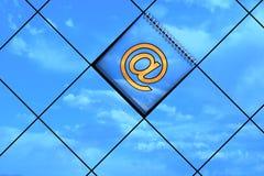 Email amarillo Foto de archivo libre de regalías