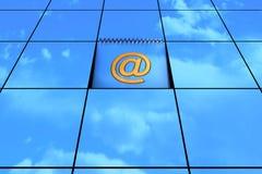 Email amarillo Fotos de archivo