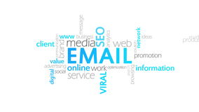 Email, animazione di tipografia illustrazione di stock