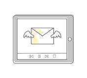Email Approches et méthodes visuelles de vente Photo stock