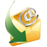 Email arrow Royalty Free Stock Photography