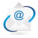 Email arrow envelope Royalty Free Stock Photos
